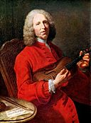 Portrait of Jean-Philippe Rameau. Attr. to Jacques Aved.