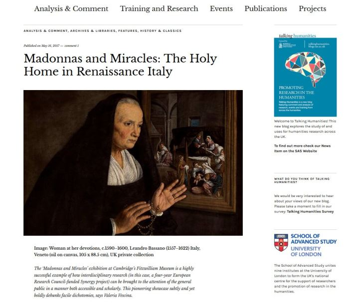 Review of Madonnas and Miracles