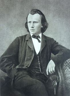 Johannes Brahms around 1866