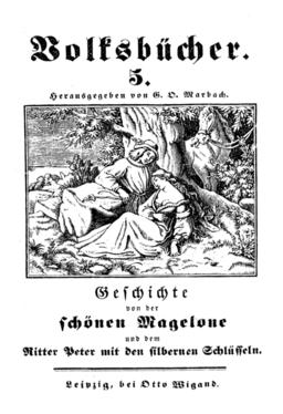 Die Schöne Magelone, Volksbücher Nr. 5, hrsg. von Gotthard Oswald Marbach (Leipzig, 1838-1849). Illustration by Ludwig Richter