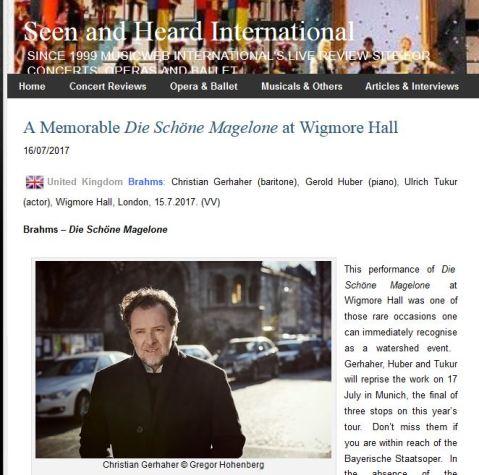 Review of Die Schöne Magelone