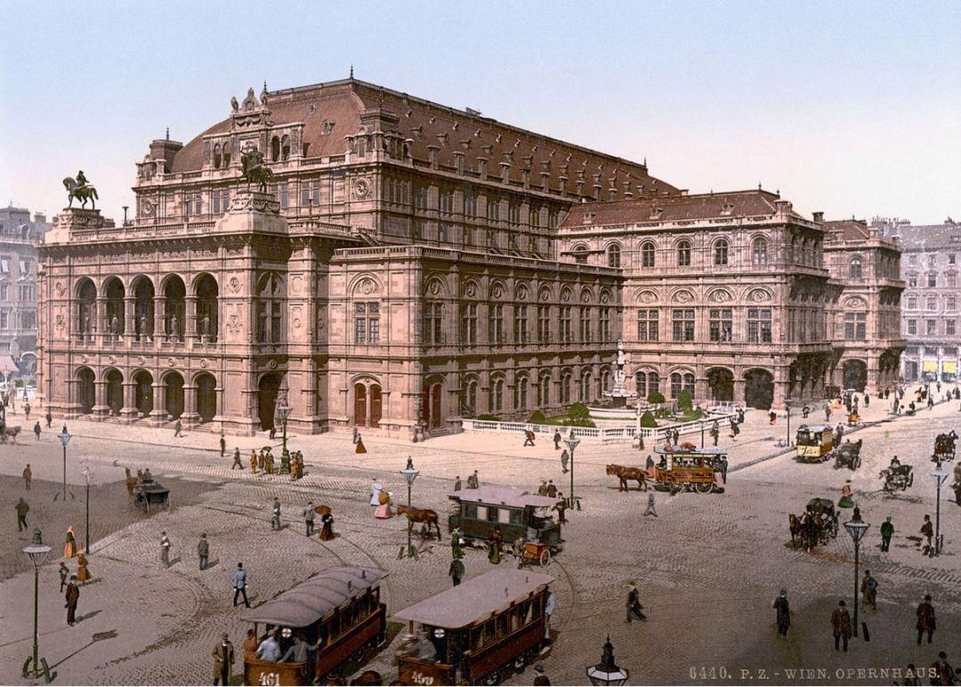 Vienna opera house c. 1900