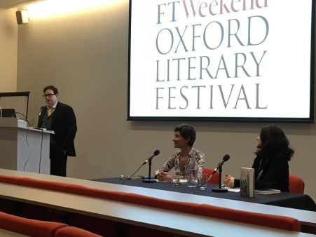 Publisher Todd Swift introducing author Valeria Vescina and interviewer Teresa Franco