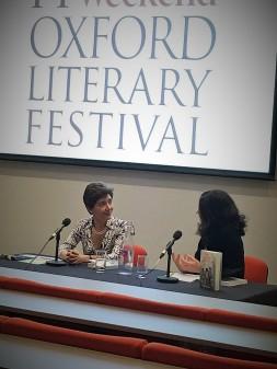 Author Valeria Vescina in conversation with interviewer Teresa Franco