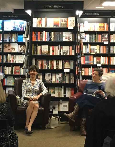 Waterstones Kensington launch - Valeria Vescina and Rachel Seiffert