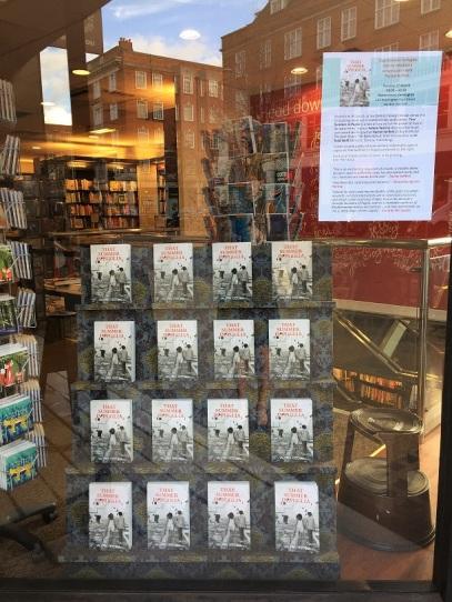 Waterstones window for 'That Summer in Puglia'
