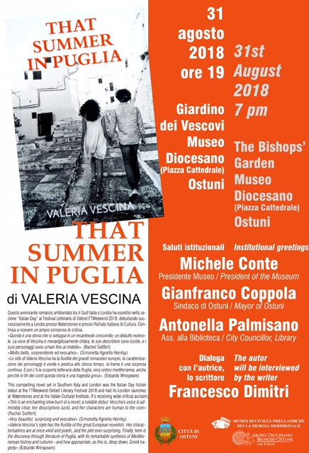 Publicity material for the talk - from the City of Ostuni
